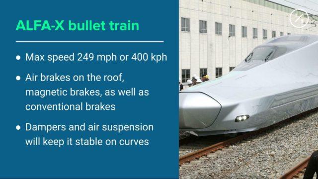 Japan's fastest-ever bullet train